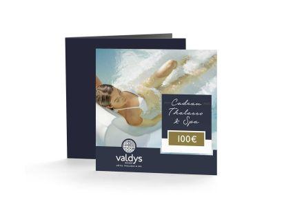 Photo de chèque cadeau femme 100€